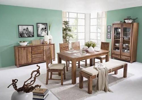 une idée pour la décoration le salon en bleu avec des meubles en bois