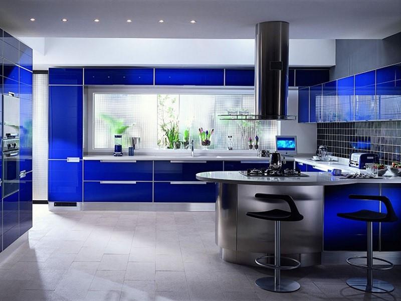 Une Idée de décoration de cuisine bleue