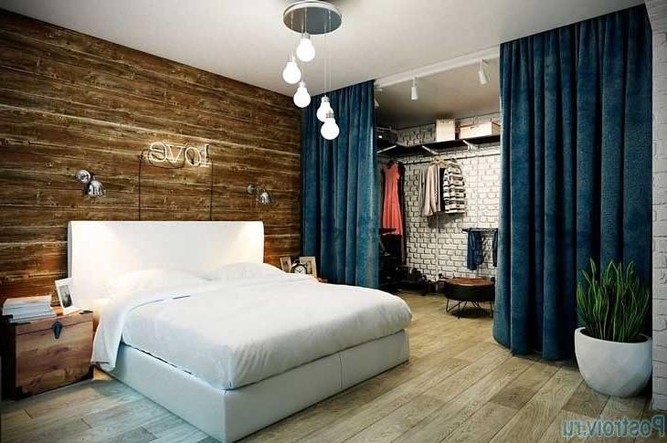 Une idée pour décorer une chambre adulte avec des éléments en bois
