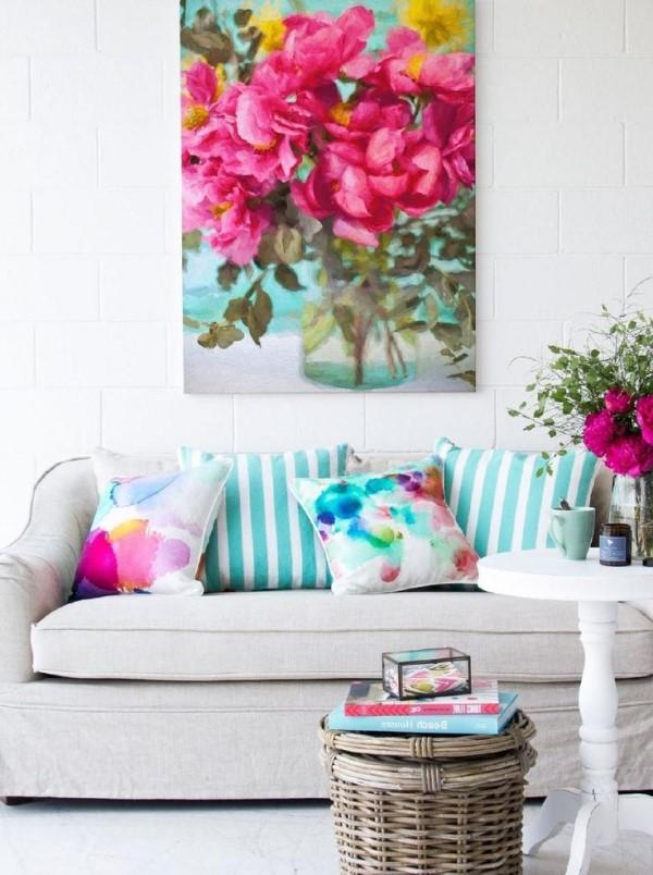 Décoration d'une chambre avec des fleurs