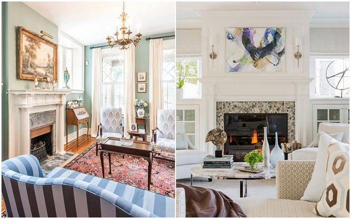 Une décoration de salon avec des meubles en bleu