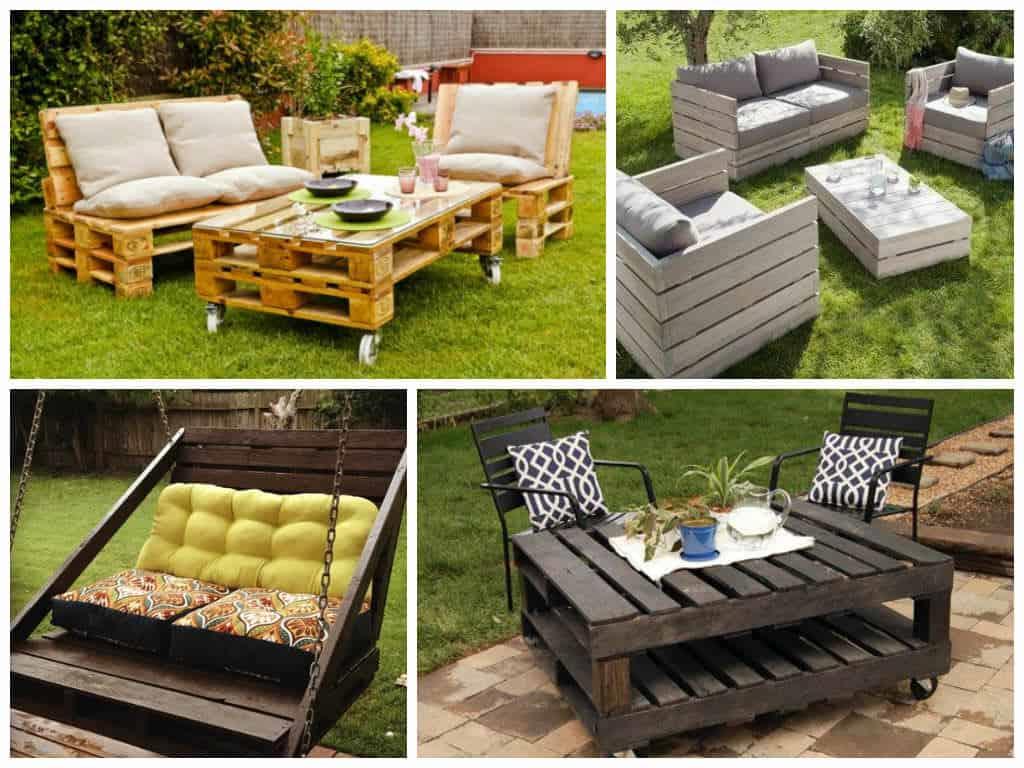 Des Idées pour des meubles avec des palettes en bois dans le jardin