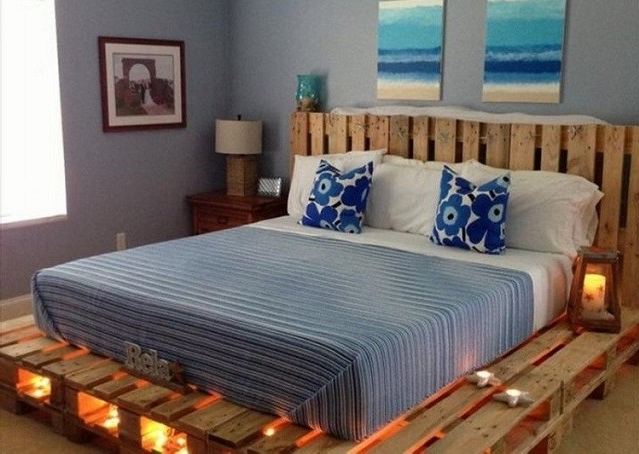 Idée pour les meubles de palette dans la chambre à coucher