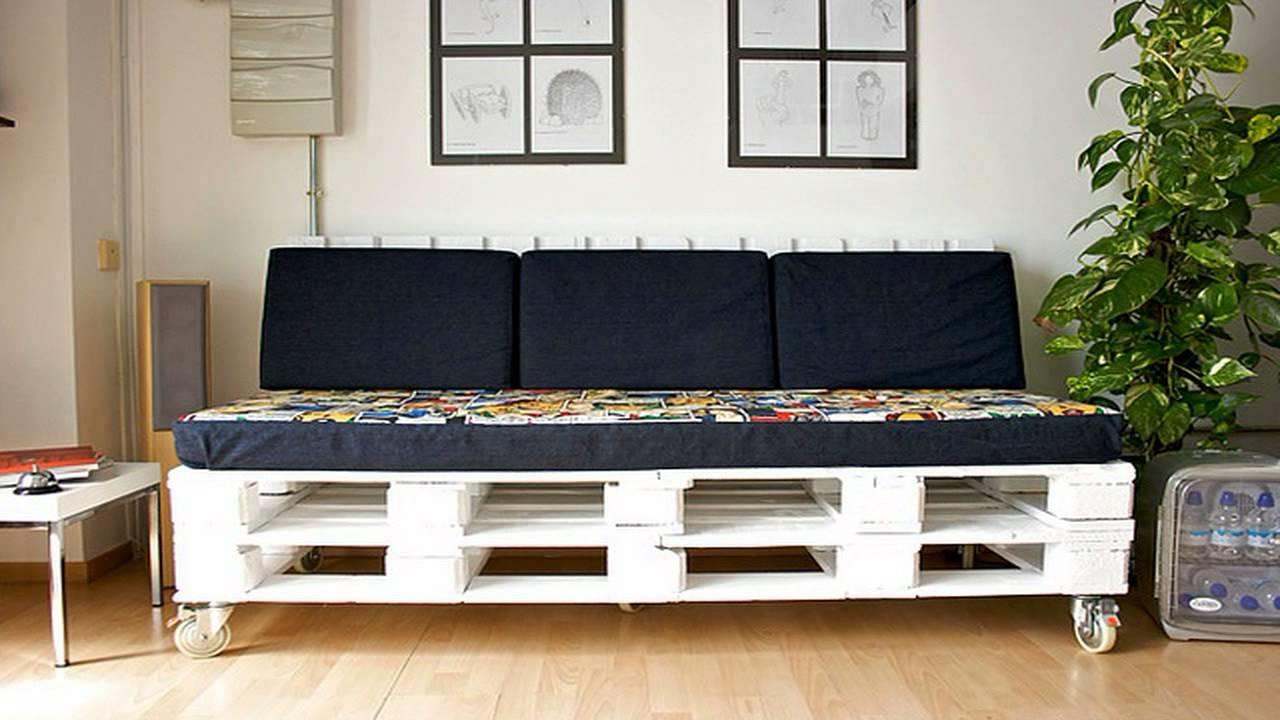 Une idée de palette pour le salon le canapé