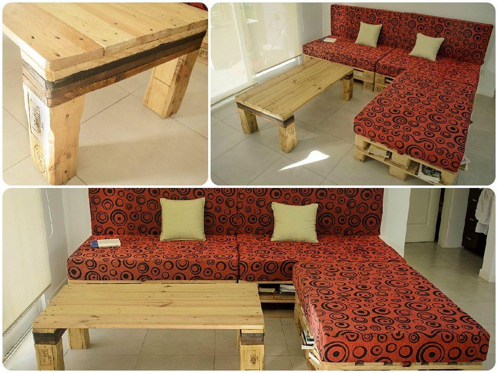Une Idée pour un canape et un table avec des palettes en bois