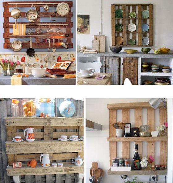 Une Idée pour un étagère avec des palettes dans la cuisine