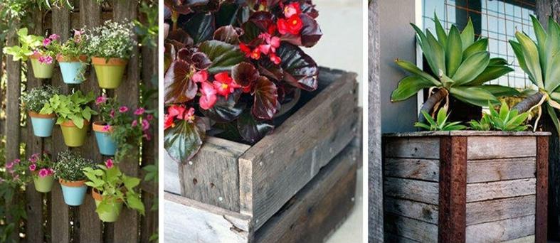 Une Idée pour un étagère pour des fleurs avec des palettes