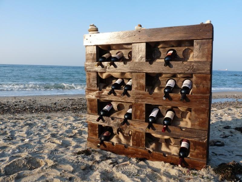 Une Idée pour un étagère de vin avec des palettes