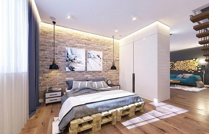 Une idée pour un lit palette - une option propre