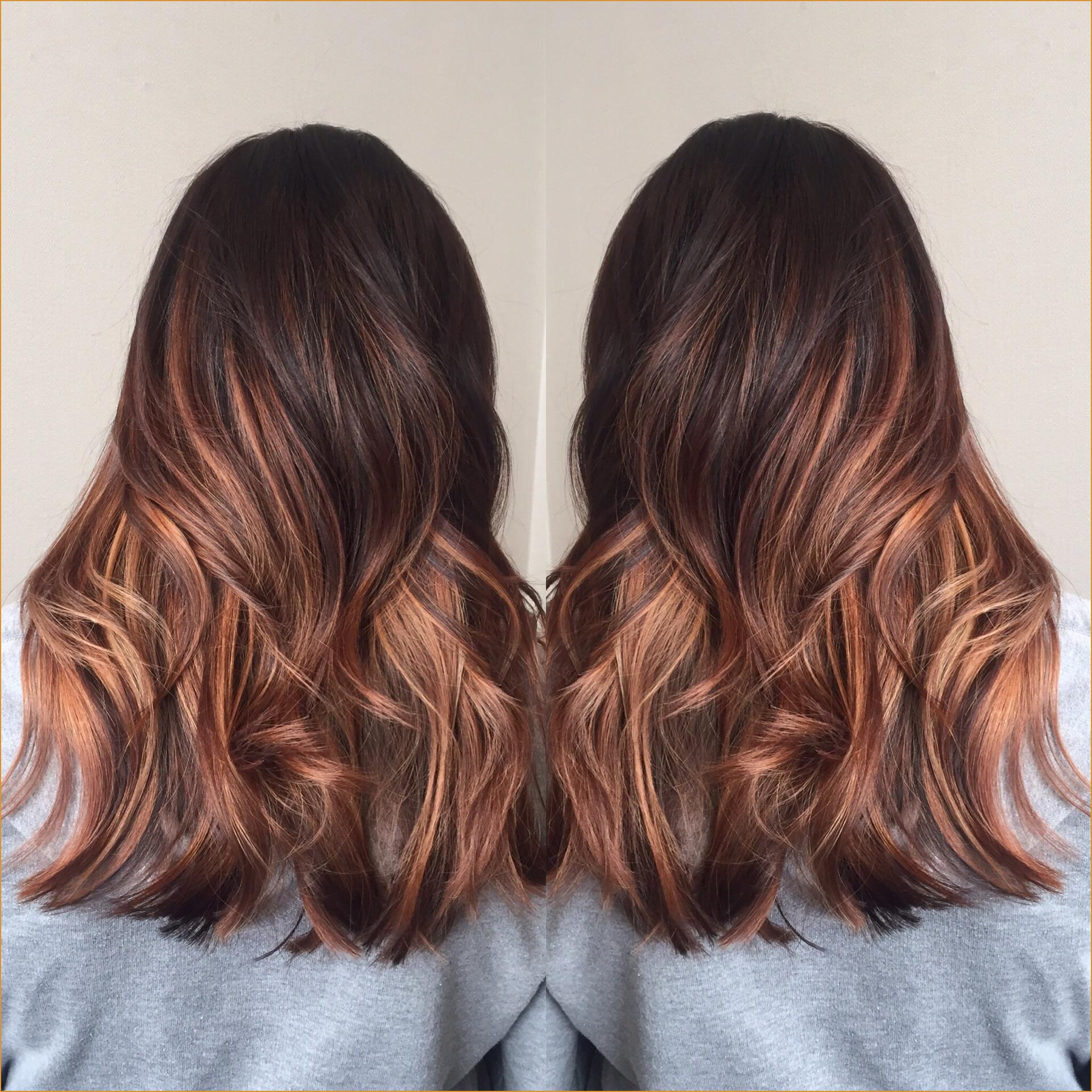 Balayage sur cheveux roux