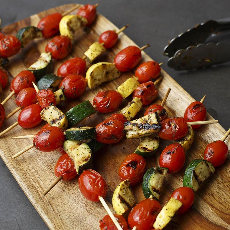 brochette de poulet et legumes
