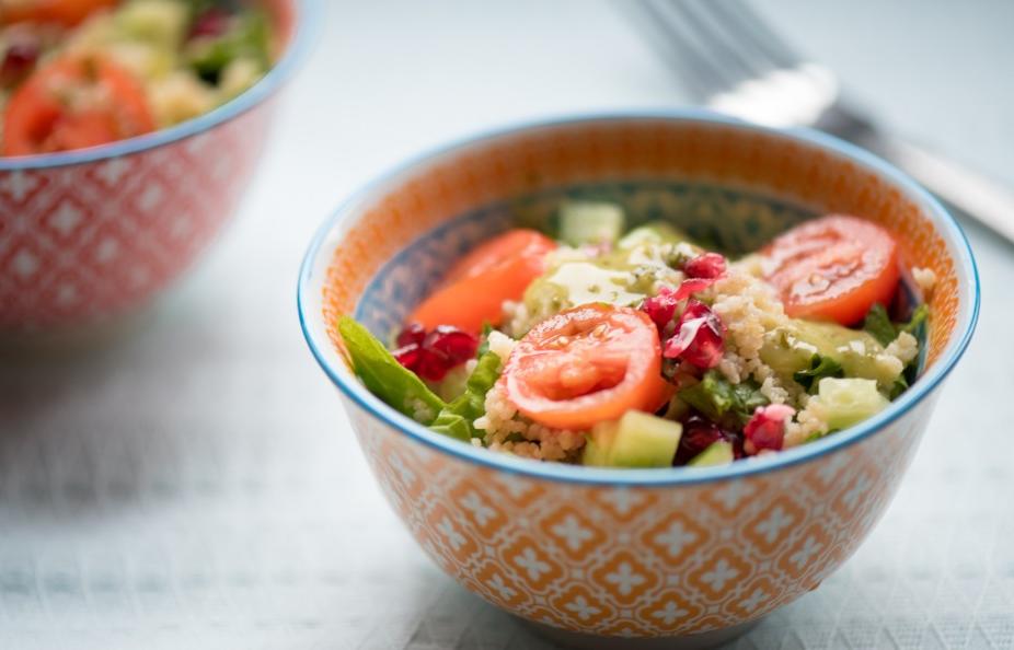 La meilleure recette de salade de couscous au pesto de roquette