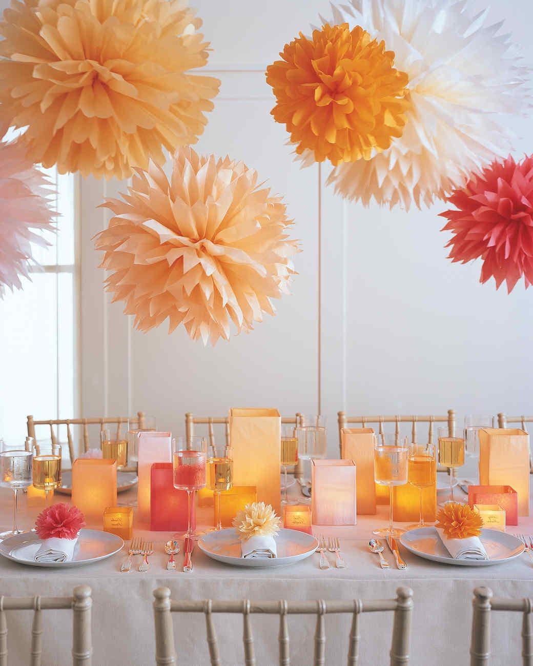 Vous pouvez aussi décorer les assiettes.