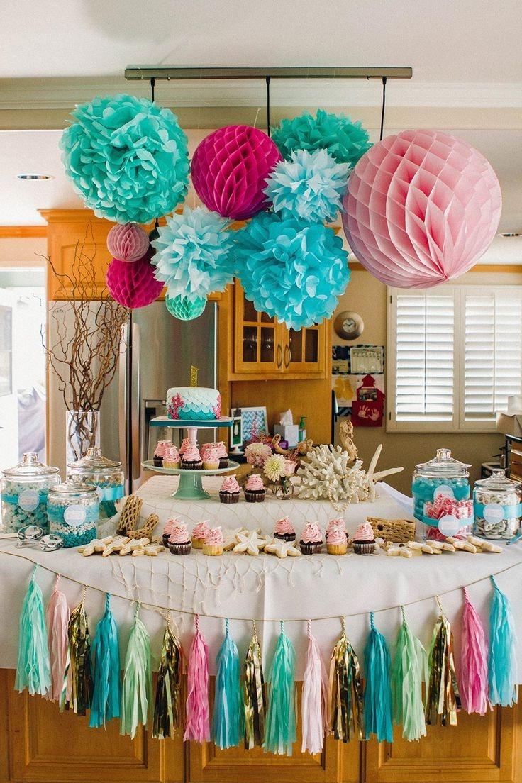 Idee deco d'anniversaire: decorez votre cuisine avec des guirlandes colorées.