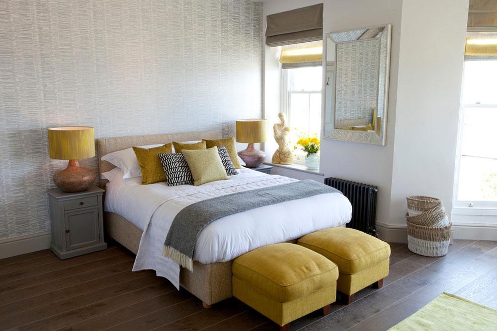 Blanc et jaune - votre chambre aura toujours l'air ensoleillée.