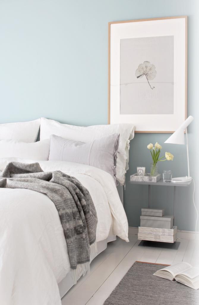 Le bleu ciel - couleur - idéale pour la chambre adulte