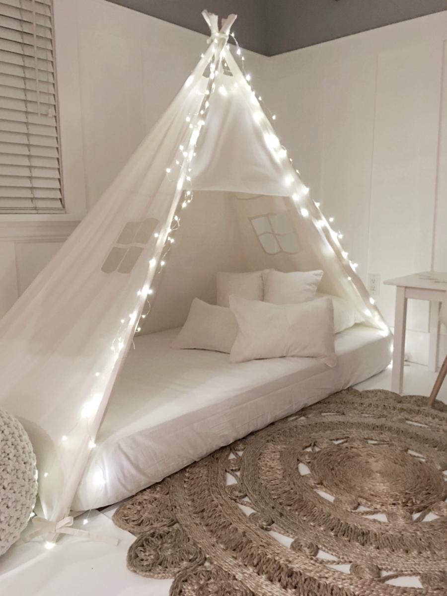 Le blanc est toujours un bon choix pour votre chambre.