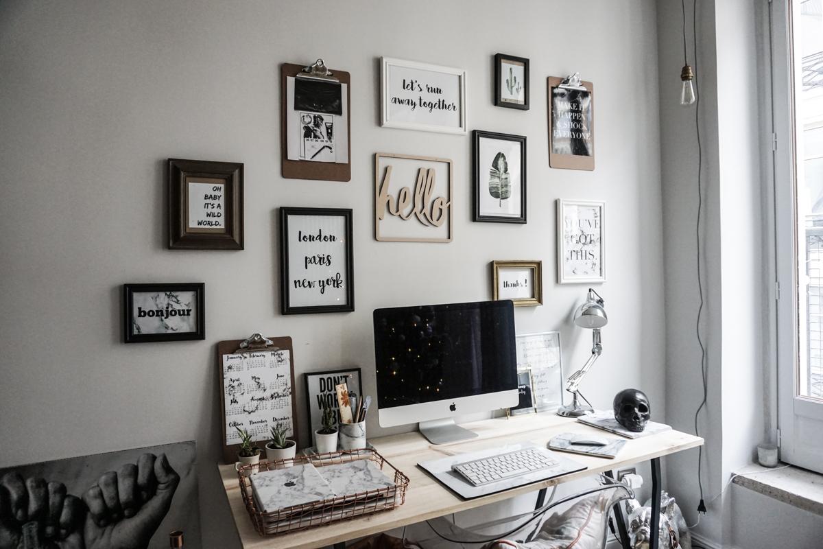 Une galerie de photos et d'illustrations aura également l'air très cool dans votre bureau.