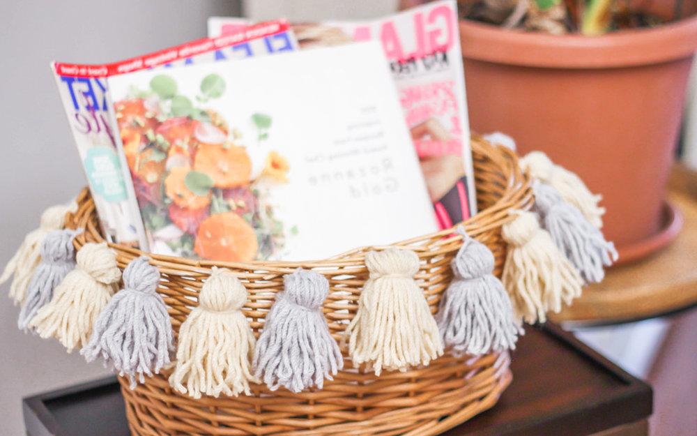 DIY déco: un truc effectif pour le rangement des magazines.