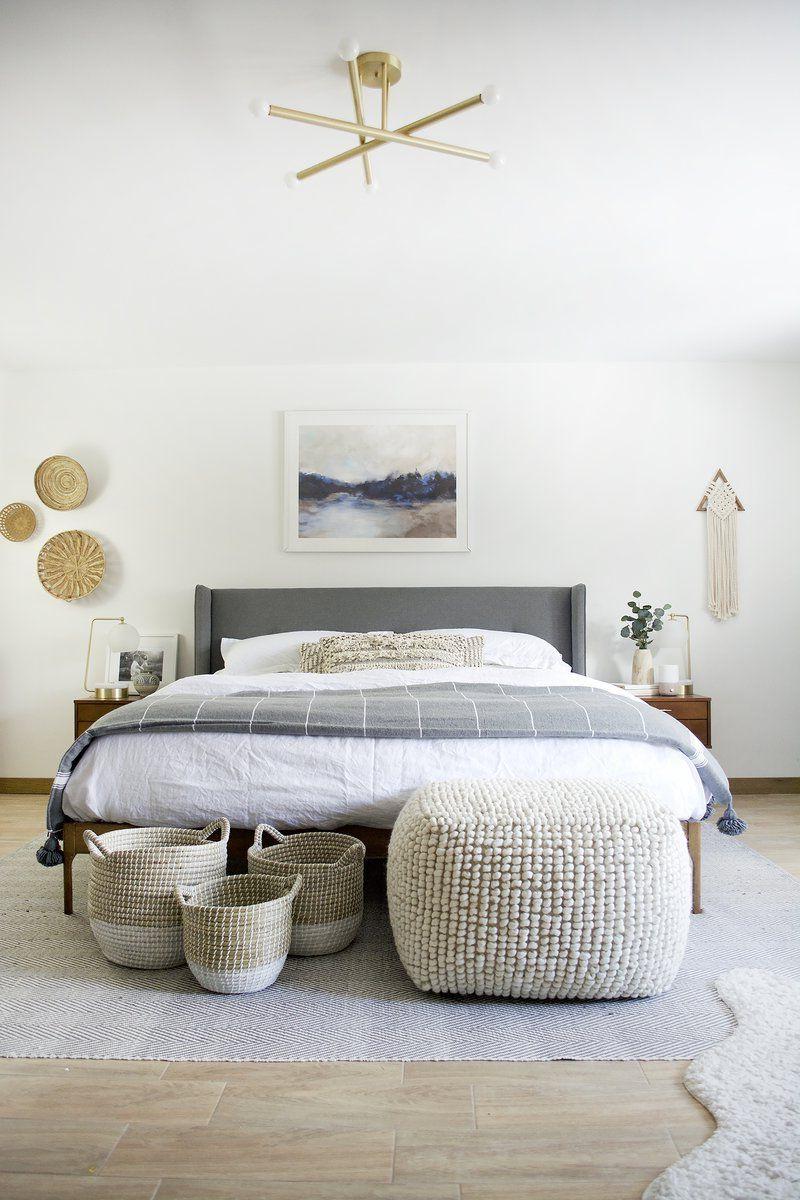 Votre chambre adulte peut être décorée de formes géométriques ou de motifs floraux