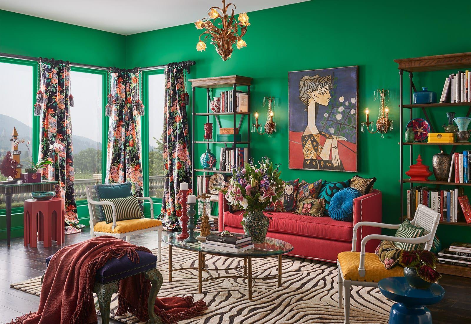 Essayez l'idée la plus populaire dans le déco de la maison cette année: peignez vos murs avec des couleurs vives.