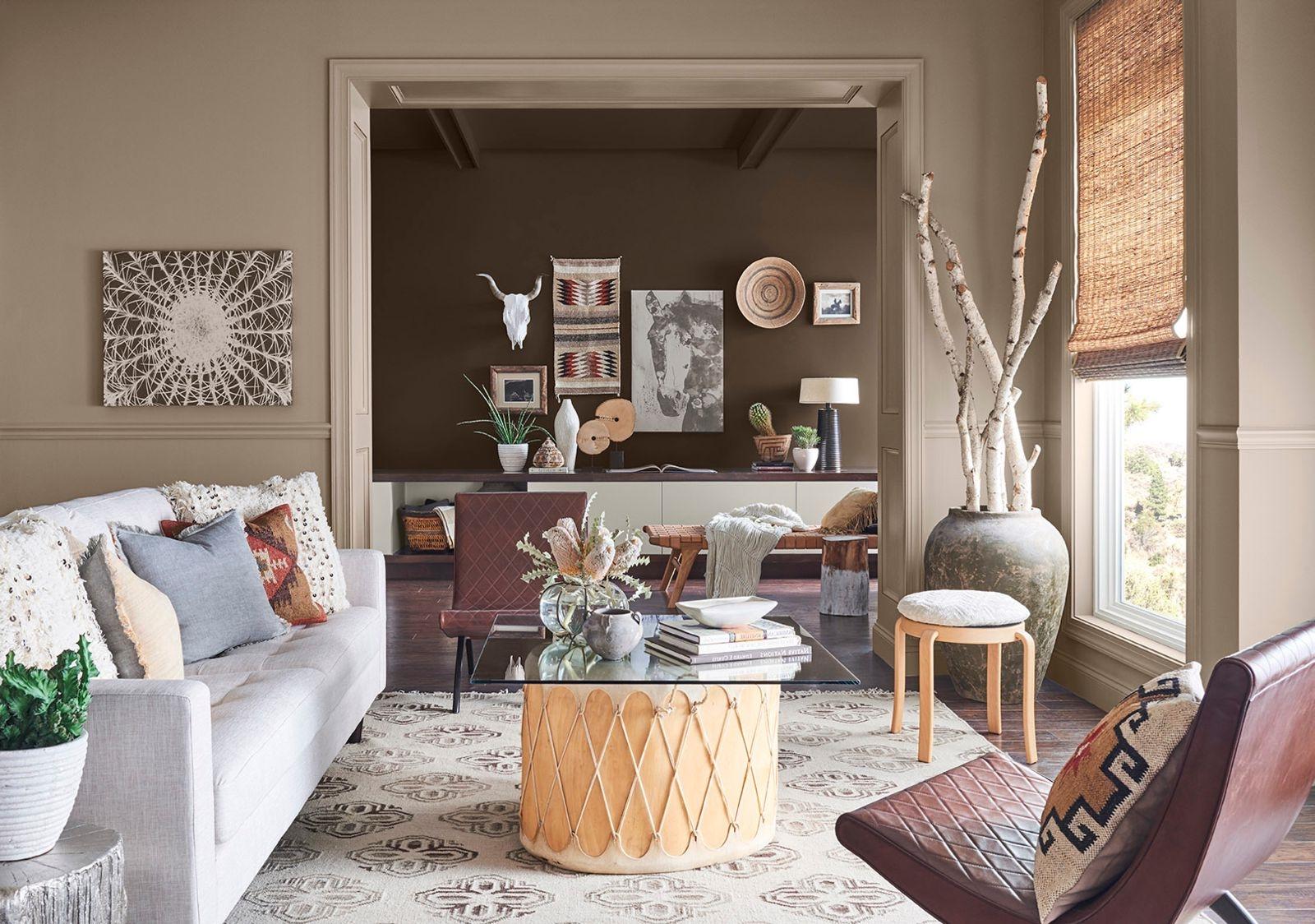 Vous obtiendrez un effet intéressant en utilisant des teintes similaires mais non identiques pour vos murs.
