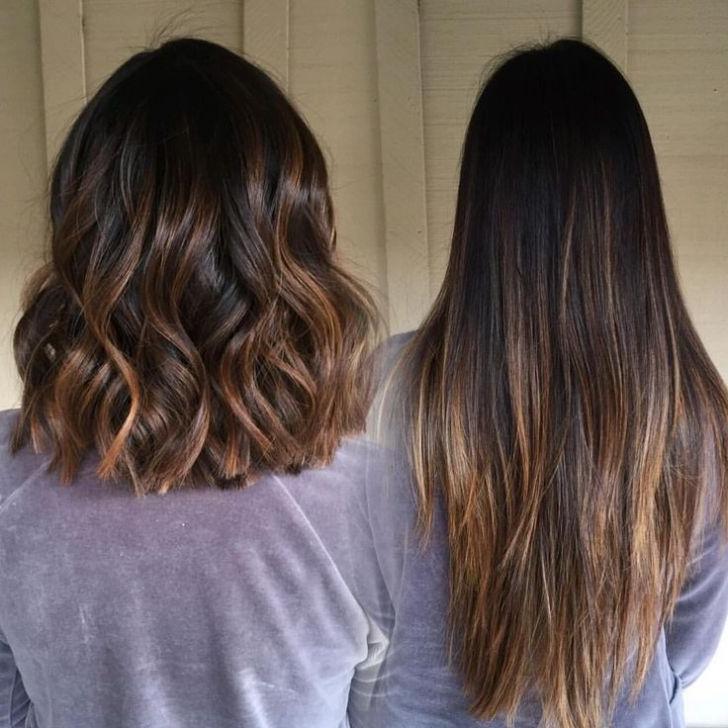 Pour des cheveux plus foncées il vaut choisir les reflets de miel et aux deux tons maximum de votre couleur