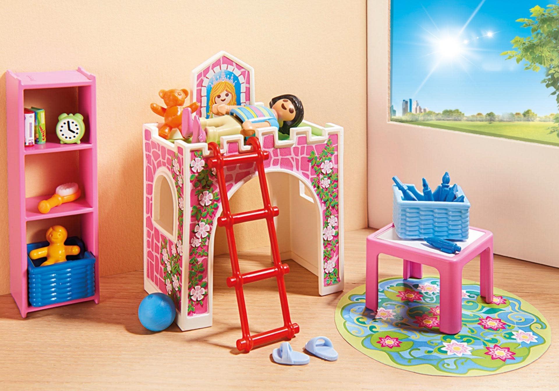 Maison moderne playmobil- bonne nuit pour les enfants qui dorment.