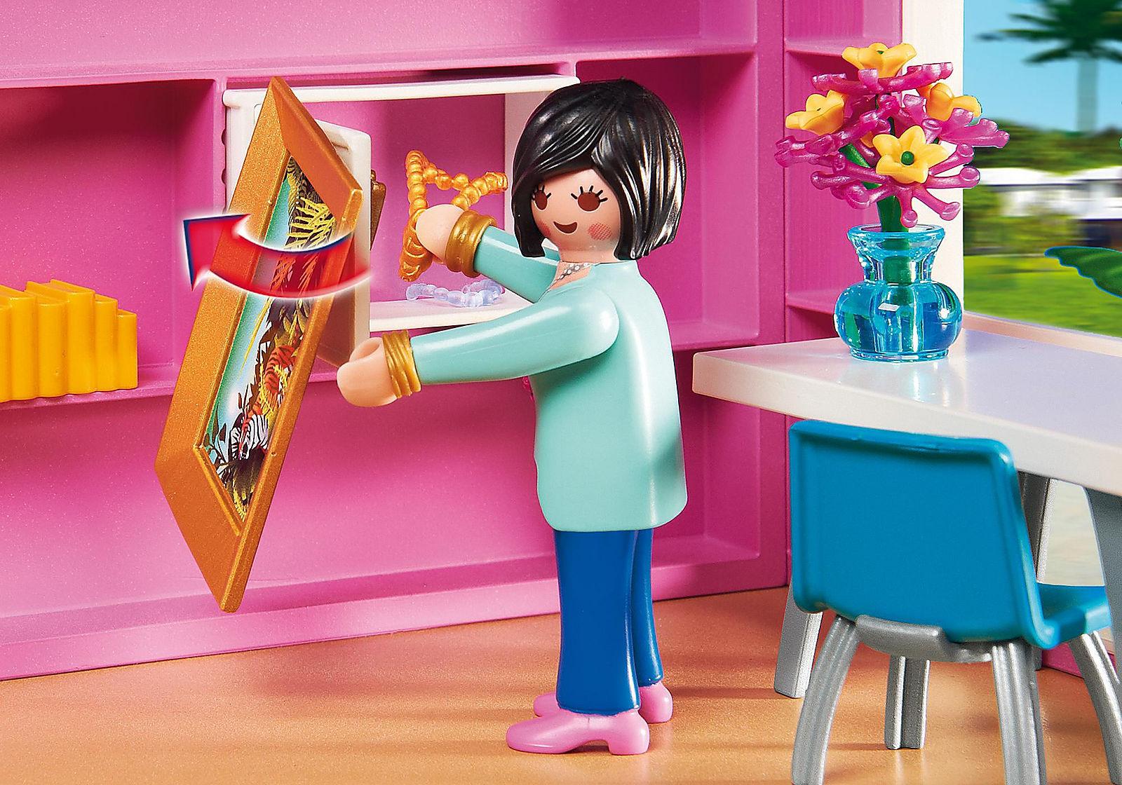 Maison moderne playmobil- une place en sécurité pour votre objets de valeur.