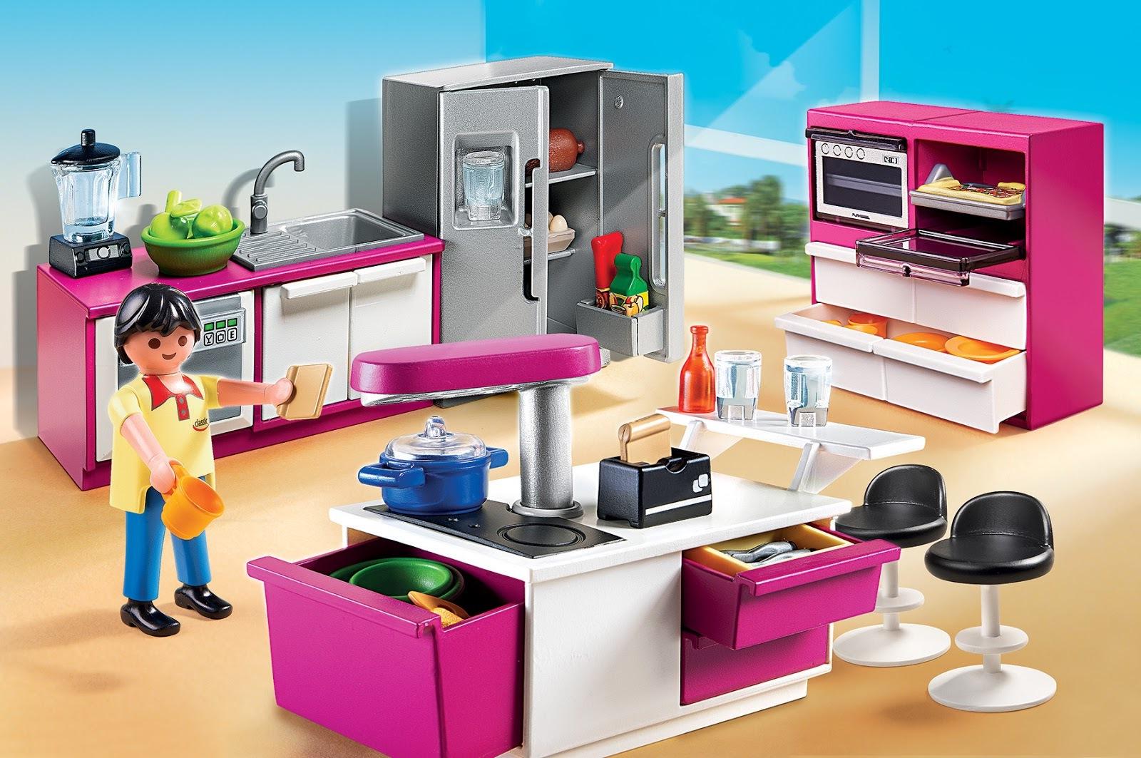 Maison moderne playmobil- la cuisine est la place la plus intéressante.