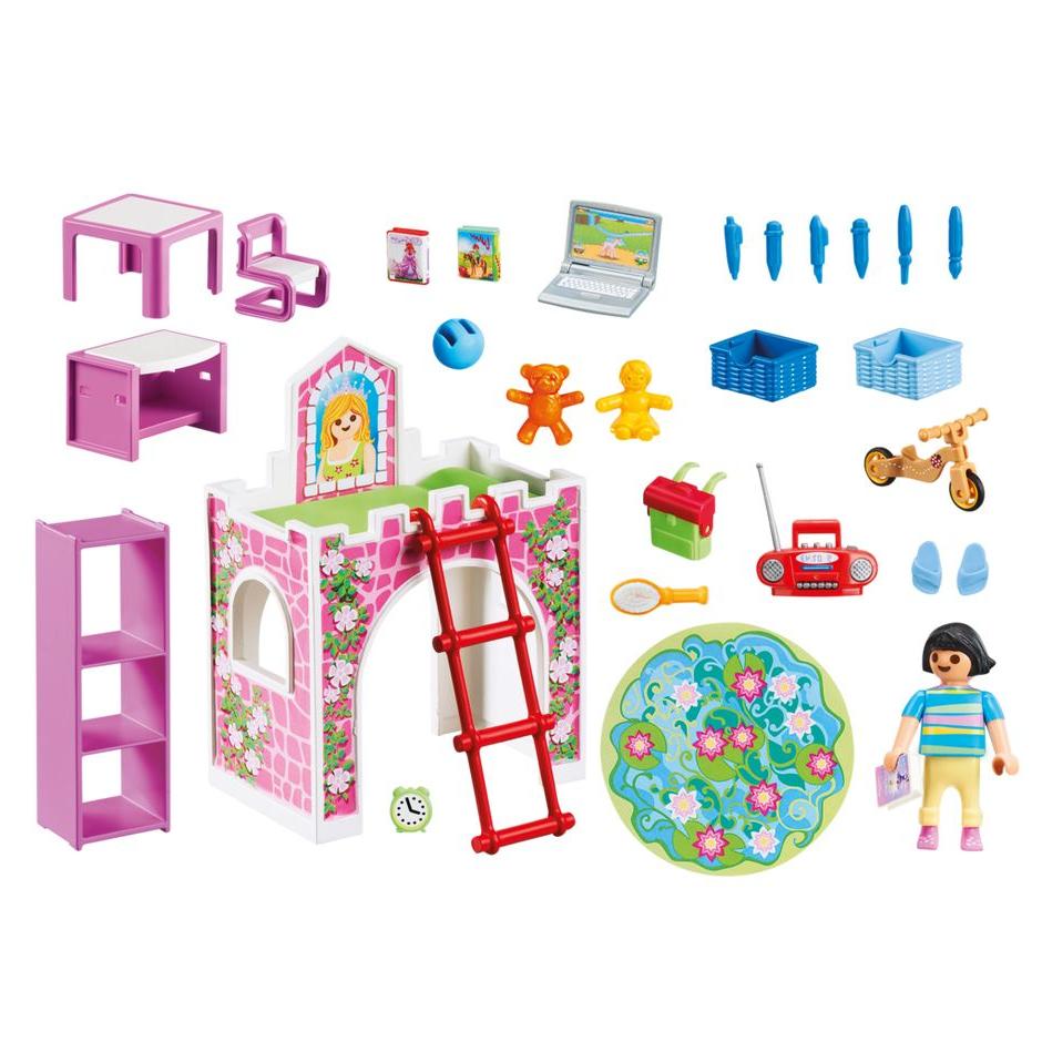 Beaucoup d'accessoires pour l'enfant.