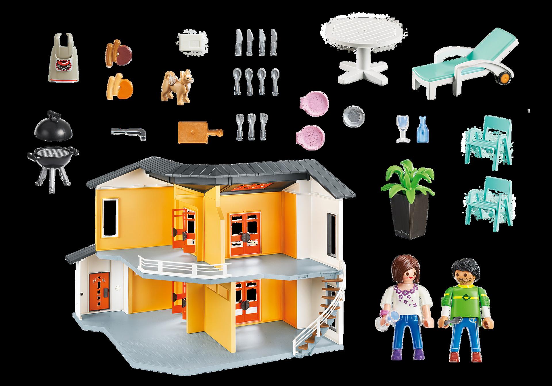 Maison moderne playmobil- la maison moderne 9266 est le modèle précédent de la maison moderne playmobil.