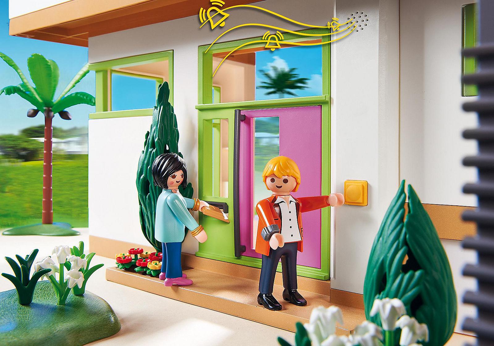 Maison moderne playmobil-les invités arrivent.