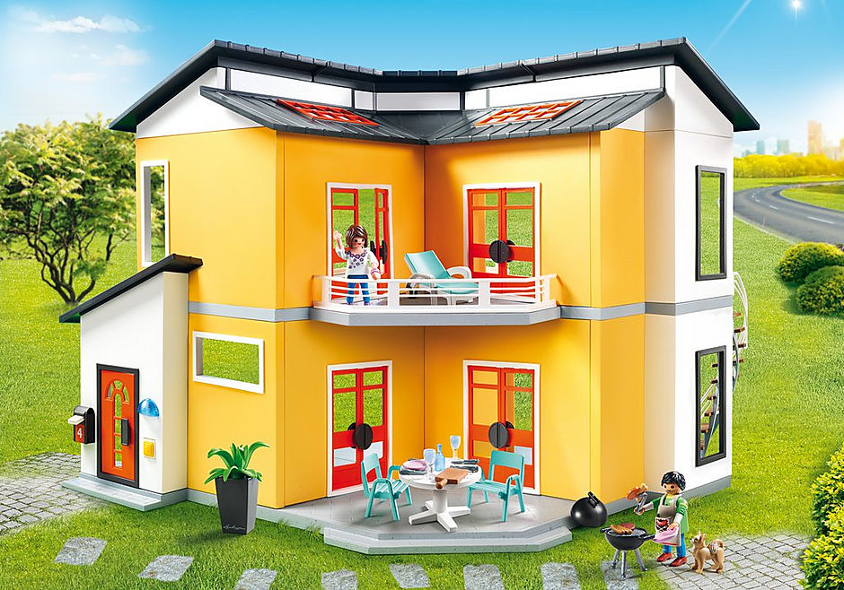 Maison moderne playmobil- la maison moderne 9266 est aussi grande et spacieuse.