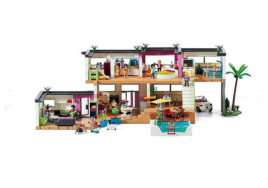 Maison moderne playmobil- la maison plein de vie.