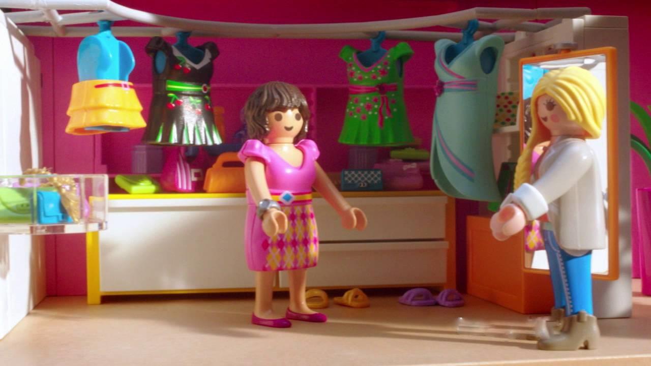 La maison moderne playmobil- être belle avec ma copine.