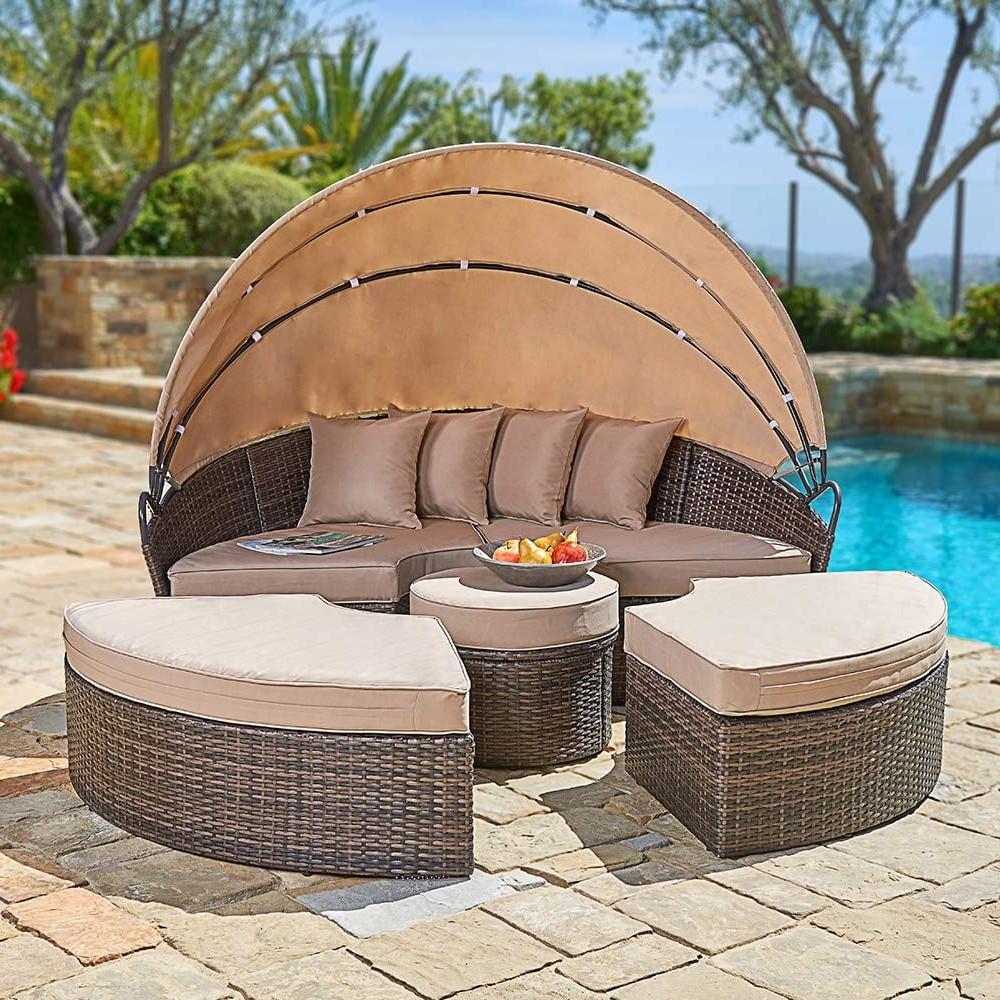 Si vous avez assez d'espace, choisissez un grand bain de soleil sur lequel vous détendre.