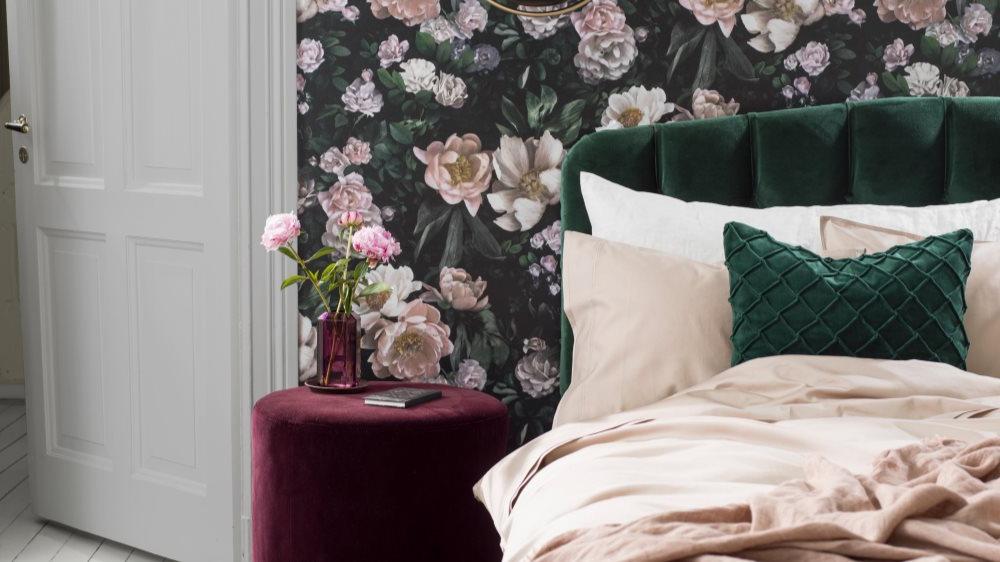 Les rideaux sont idéals pour introduire les motifs floraux