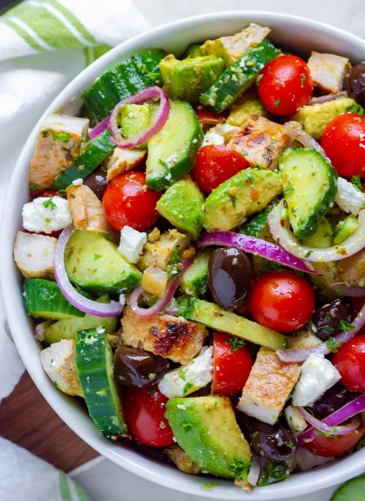Salade grecque - très facile à réaliser