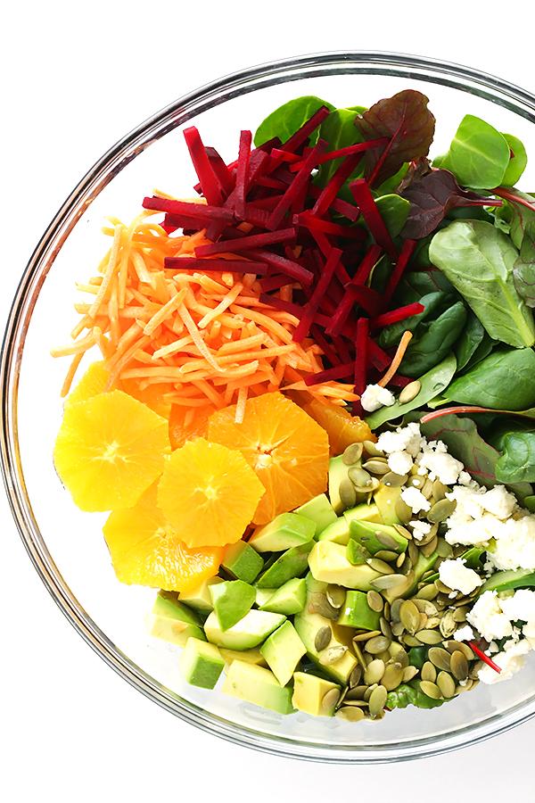 Une salade légère, gourmande et colorée