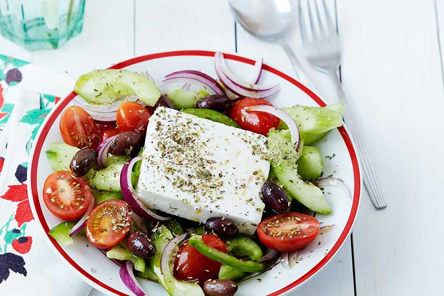 Salade grecque- une salade composée délicieuse
