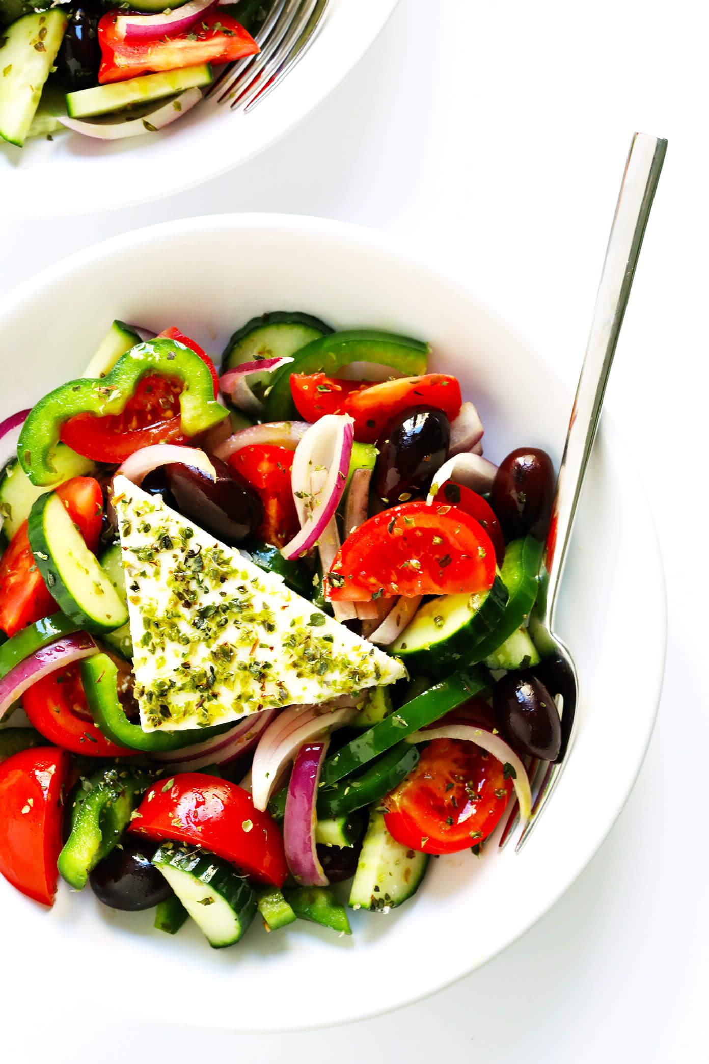 Notre délicieuse salade grecque