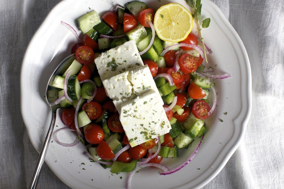 Salade grecque - une salade composée classique mais bonne