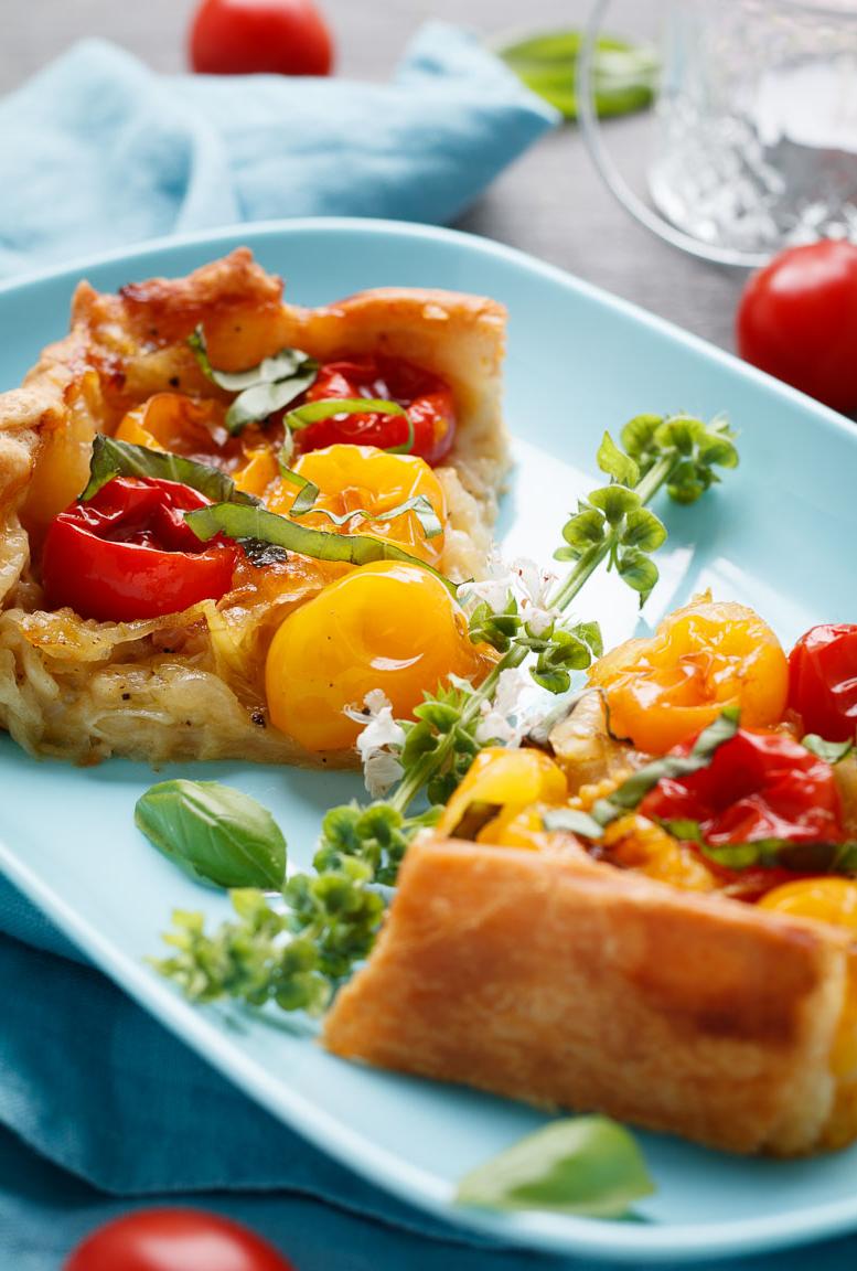 Tarte salée aux tomates cerises pâte feuilletée
