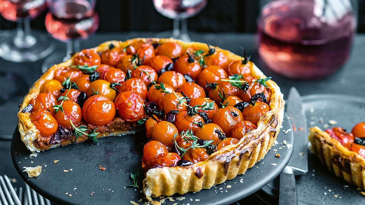 Tarte salée aux tomates cerises pate feuilleté
