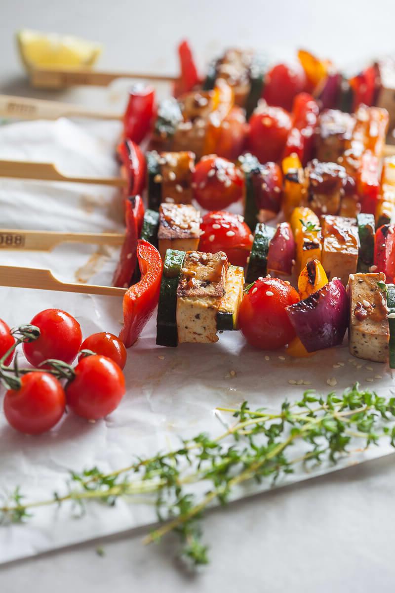 Brochettes - une cuisine d'été douce