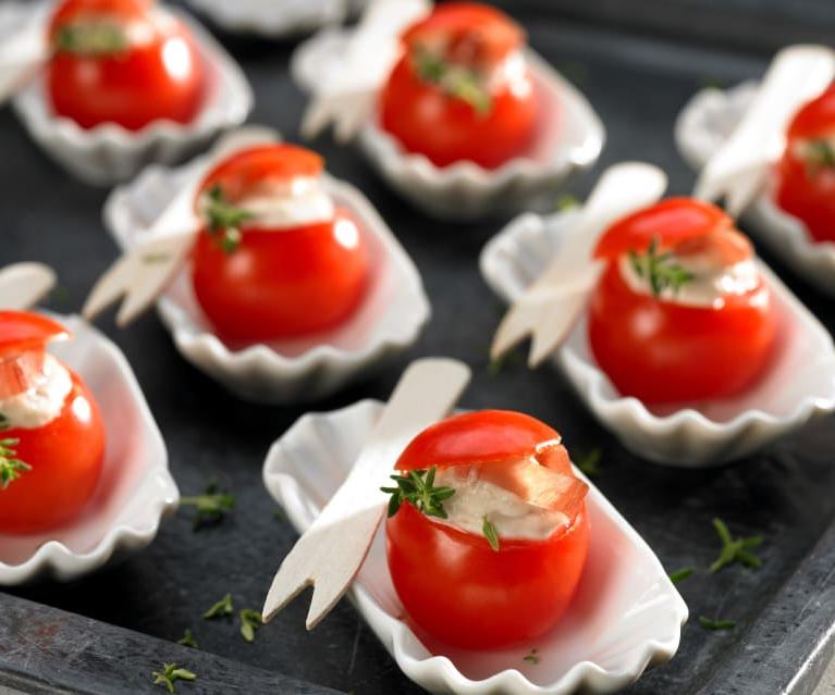 Tomates cerises farcies au thon - recette pour un party