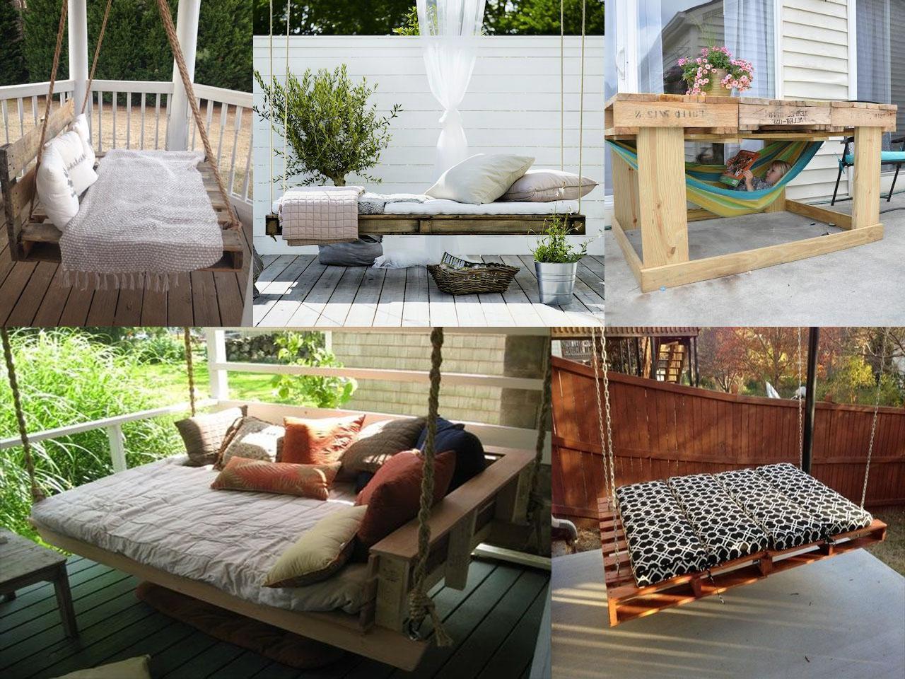 Idée pour déco un jardin avec différentes balançoires