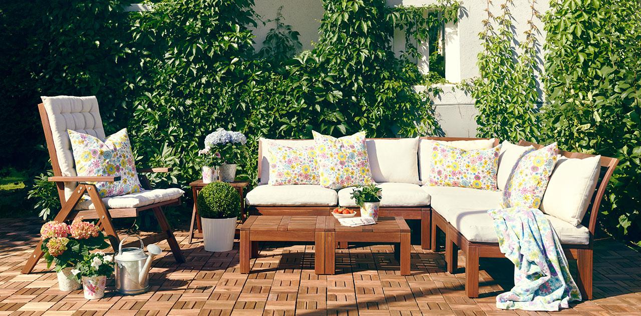 Déco de mobilier de jardin en bois