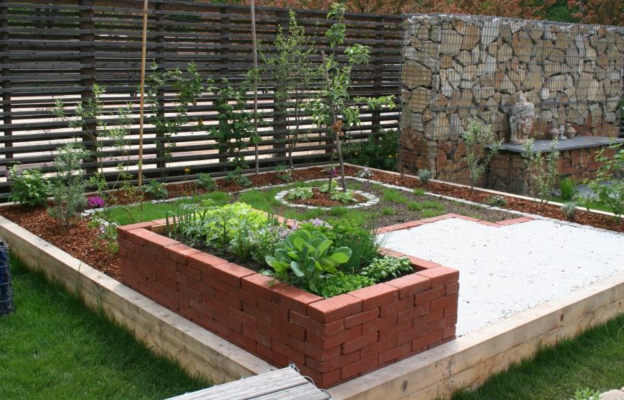 Déco de jardin avec différents matériaux